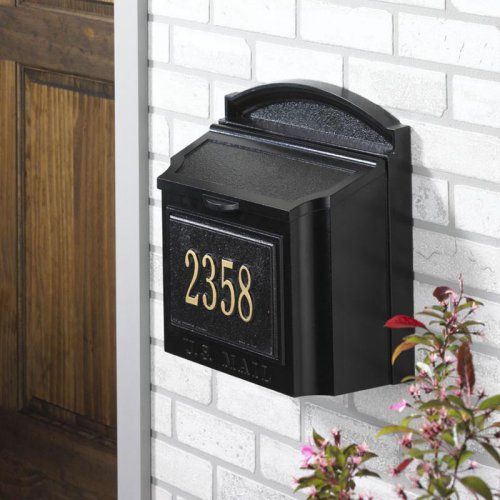 Whitehall Personalized Wall Mount Mailbox - Mailboxes at Hayneedle - Best 25+ Wall Mount Mailbox Ideas On Pinterest Stainless Steel
