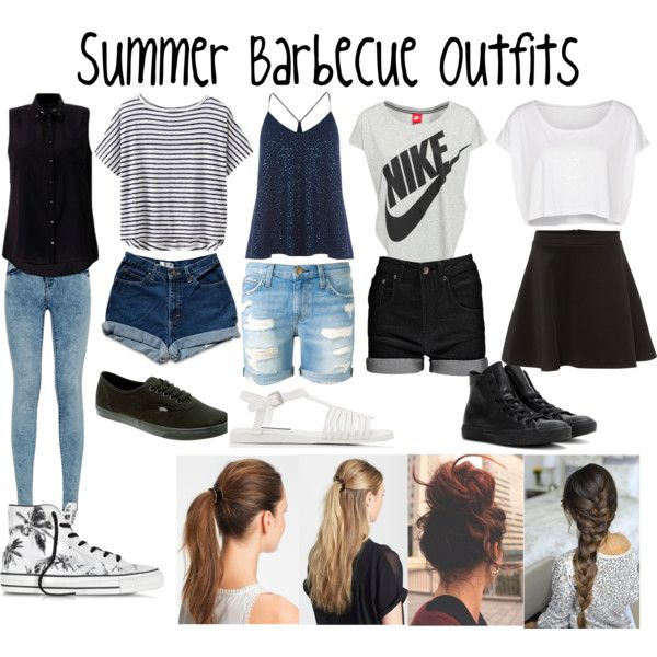 Summer Barbecue Outfits by poods-marzia7 on Polyvore featuring polyvore, fashion, style, Athleta, NIKE, American Apparel, Warehouse, Silvian Heach, Boohoo and Current/Elliott                                                                                                                                                                                 More