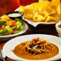 Applebee's Copycat Recipes: CHICKEN TORTILLA SOUP - 220 calories per bowl (less if you omit the tortilla strips!)