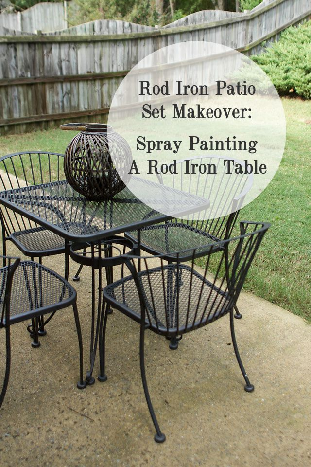 Rod Iron Table And Chairs Part - 18: Do You Have A Rod Iron Table Or Chair That Is In Rough Shape? Donu0026 Worry It  Can Be Fixed. When We Bought Our House We Noticed A Rod Iron Patio Set ...
