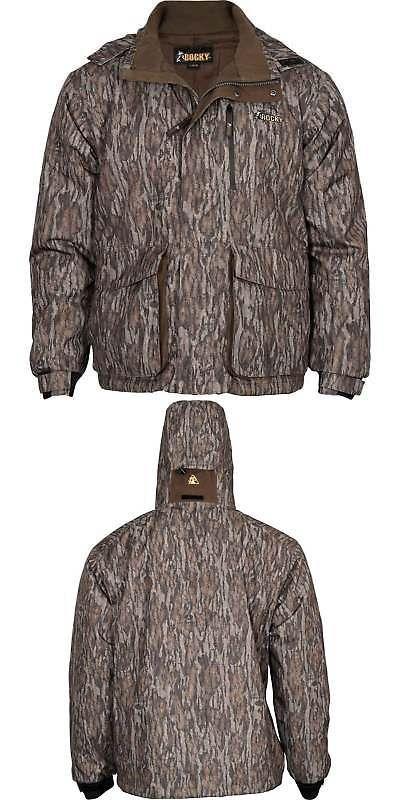 Coats and Jackets 177868: Rocky Men S Waterfowl Waterproof Parka Coat Mossy Oak Bottomlands Hw00172 -> BUY IT NOW ONLY: $99 on eBay!