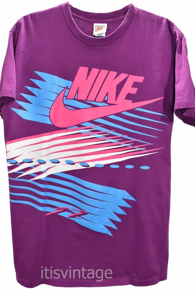 Vintage 80's to early 90's Nike Made USA Short Sleeve 100% Cotton Large T Shirt | Clothing, Shoes & Accessories, Women's Clothing, T-Shirts | eBay!