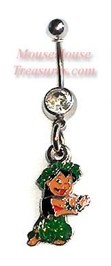 Lilo Dancing 3 Piece Belly Ring