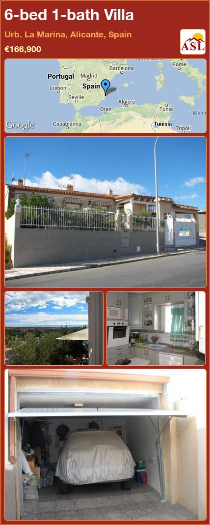 6-bed 1-bath Villa in Urb. La Marina, Alicante, Spain ►€166,900 #PropertyForSaleInSpain