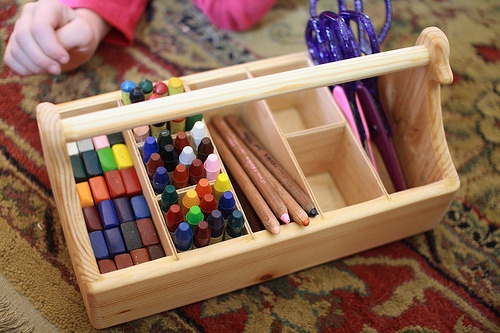 art caddy - this shows how the 8 compartments are laid out