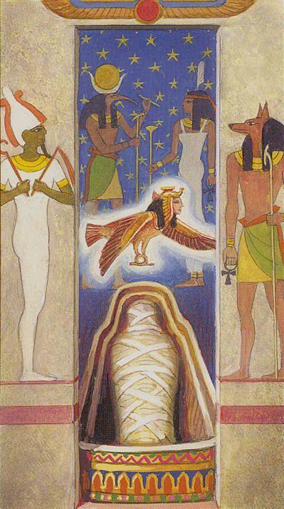 XIII - La mort - Ramsès : Tarot de l'éternité par Severino Baraldi