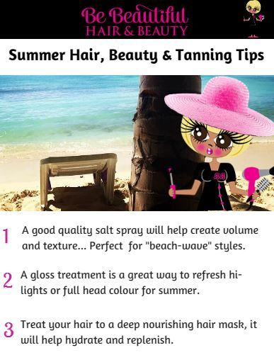 My Summer #Hair, #Beauty & #Tanning Tips are out now... You can download the full article here; http://bebeautifulhairandbeauty.co.uk/tips-tricks/