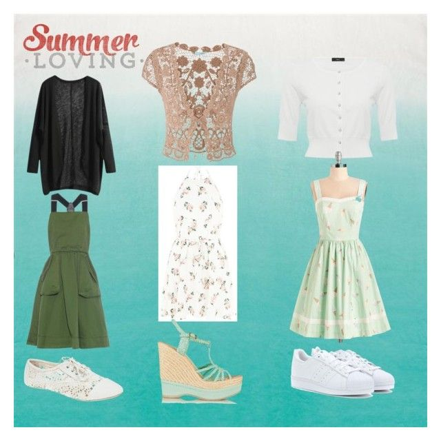 Summer love by veka1915 on Polyvore featuring Marc by Marc Jacobs, Bea & Dot, maurices, M&Co, Paloma Barceló, adidas Originals and Wet Seal