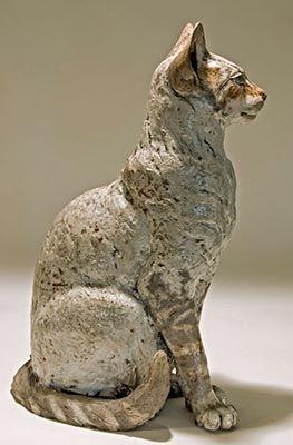 Nick Mackman: Clay Cat Sculpture