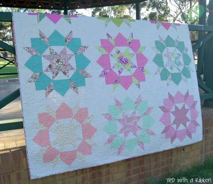 """Tied with a Ribbon: January 2015 fabric is """"Fresh Cut"""" by Heather Bailey"""