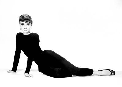 Black cigarette pant perfection. Before there were skinny jeans, there was Audrey Hepburn.