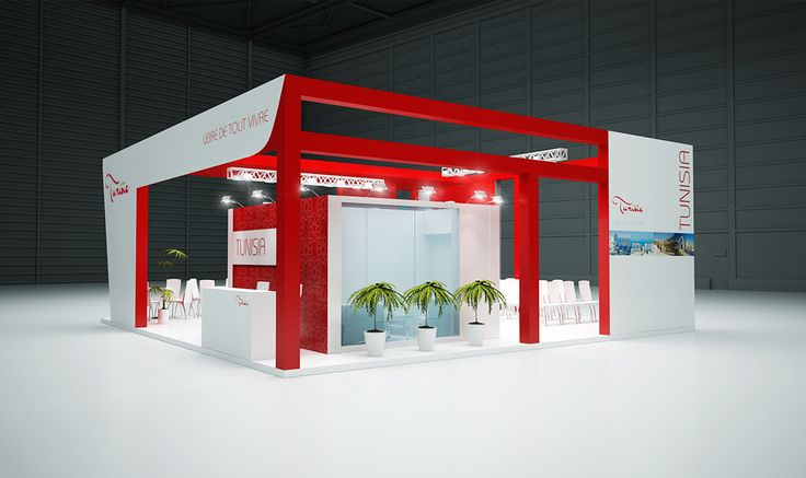 """Exhibition Stand for """"Tunisia"""" designed by GM design group #exhibitionstands #exhibition #stand #booth #gmdesigngroup #gmdesign #gm #design"""