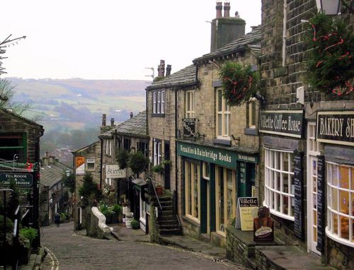 The beautiful village of Haworth, where the Brontë sisters lived, Yorkshire, England