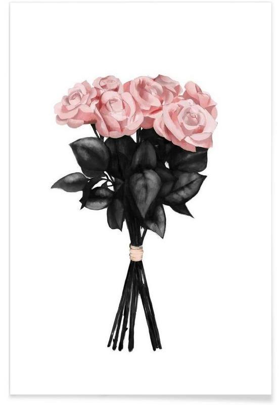 Pink Bouqet als Premium Poster von Peytil | JUNIQE