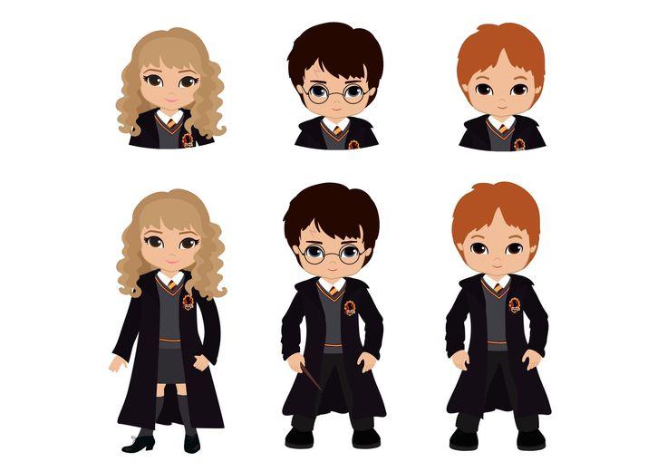 Hermione, Harry e Rony para marcar seu livro.