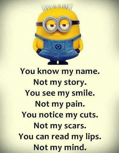 Minion, name, pain, story, mind. ◕‿◕。 See my Despicable Me Minions pins…  www.thedailylaugh.net
