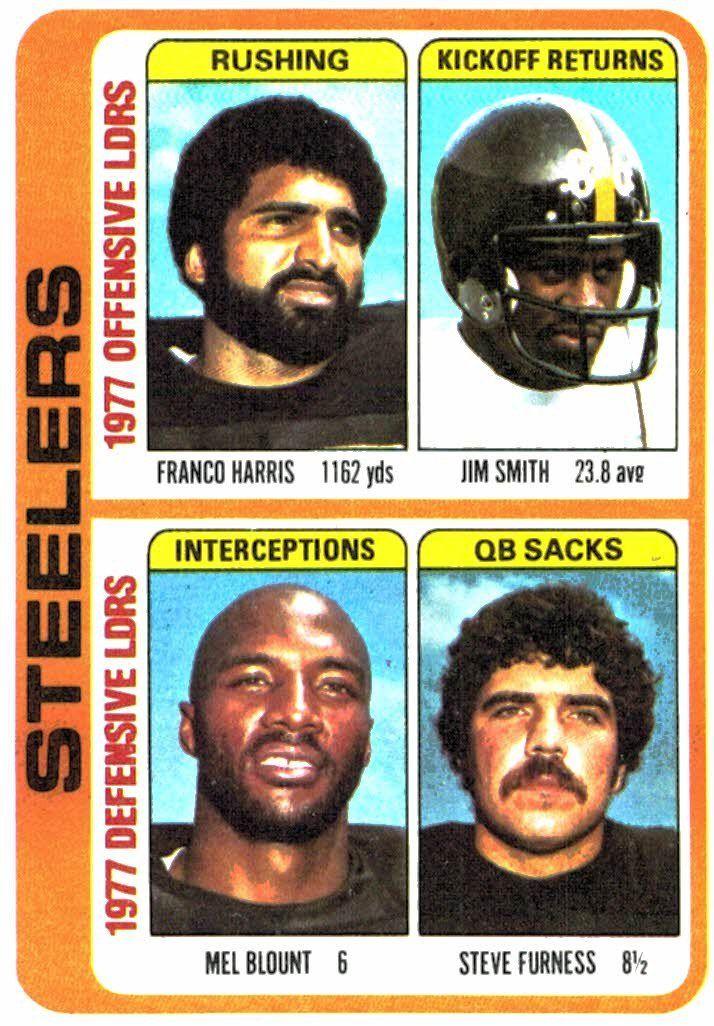 1978 Topps Pittsburgh Steelers Team Leaders Card