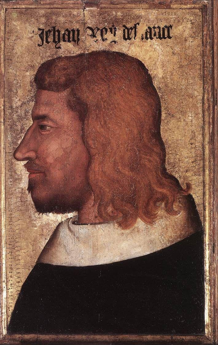 Portrait anonyme de Jean II le Bon (1319 - 1364), roi de France - Paris, milieu du XIVe siècle - H. : 0,60 m. ; L. : 0,45 m. - Paris, Musée du Louvre, R.F. 2490