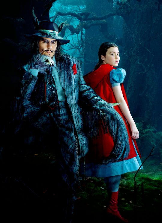 i am so in love with the costume of the wolf. oh mister depp :D