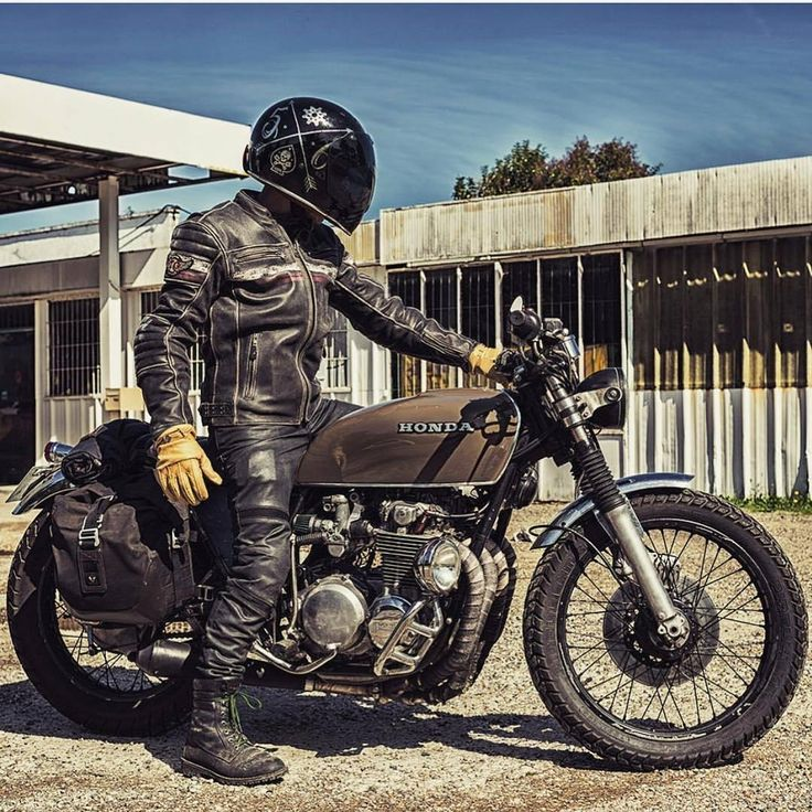 This is the best way to start a new day. Beautiful shot of this Honda cafe racer taken from...