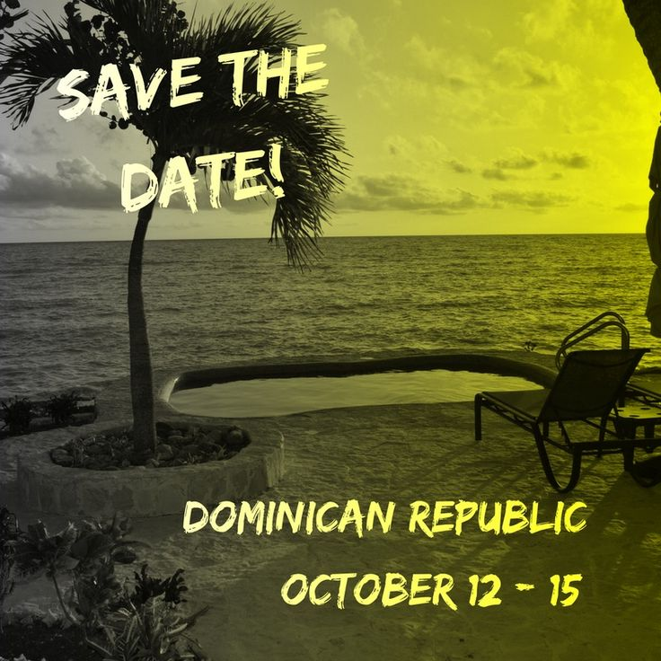 Save the date The dates are confirmed