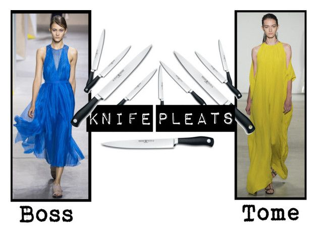 Spring/Summer 2016 Trend; Knife Pleats by kimearls on Polyvore featuring Wüsthof