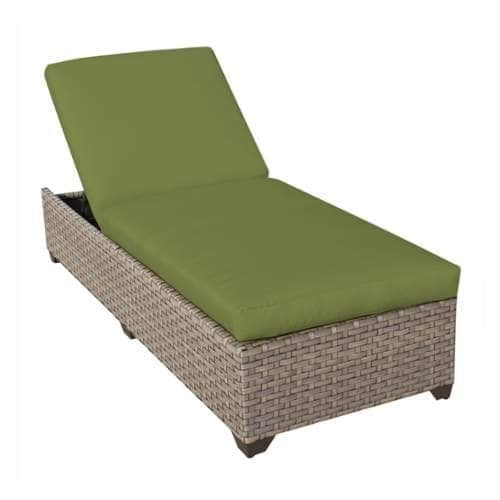 Miseno MPF MNTR1X Pacific West Aluminum Framed Outdoor Chaise Lounge Chair  (Cilantro),