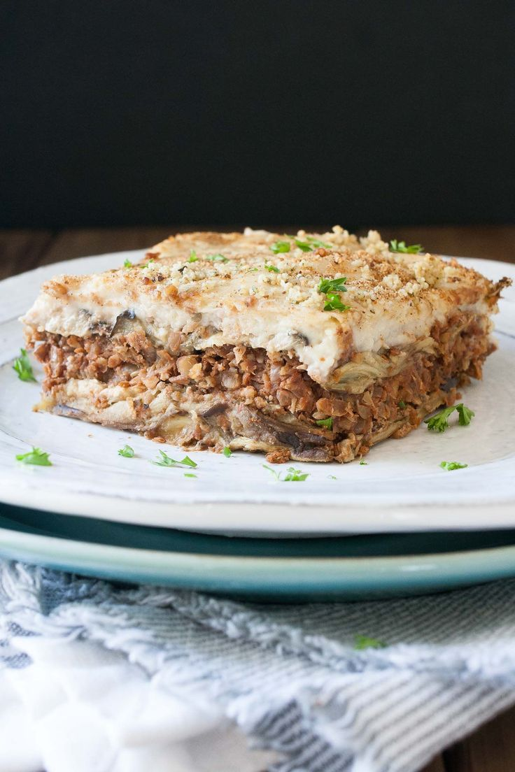Indulgent Greek food in the healthiest way possible. This vegan moussaka gives the original version a run for it's money! Creamy, satisfying and delicious.