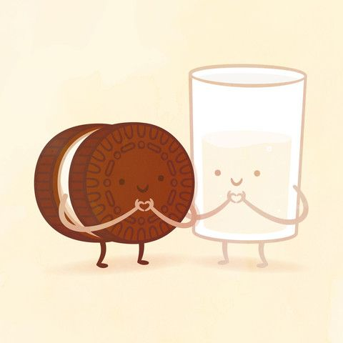 LOOK! There is also an Oreo and milk one and they both make a heart with their hands!! But the coffee& donut one is better because it symbolizes one of our favorite foods for each of us :]
