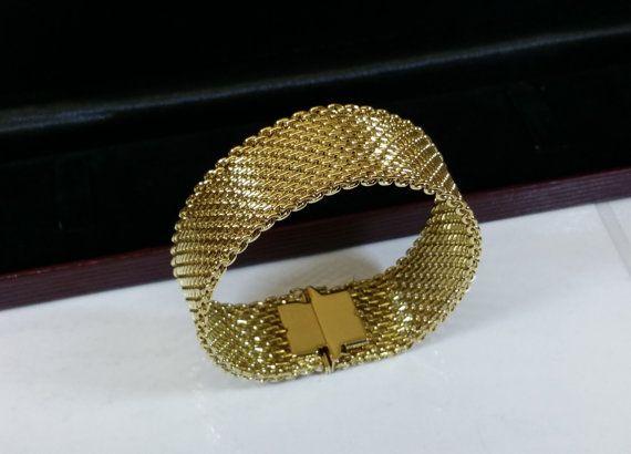 Altes Gold Doublé Armband Amerikaner fein MAB100 von Schmuckbaron