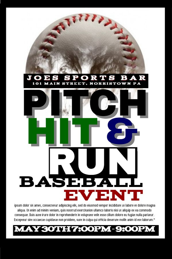 20 best Sports Poster Templates images on Pinterest Poster - missing posters template