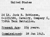 Jim Crow, Meet Lieutenant Robinson: A 1944 Court-Martial