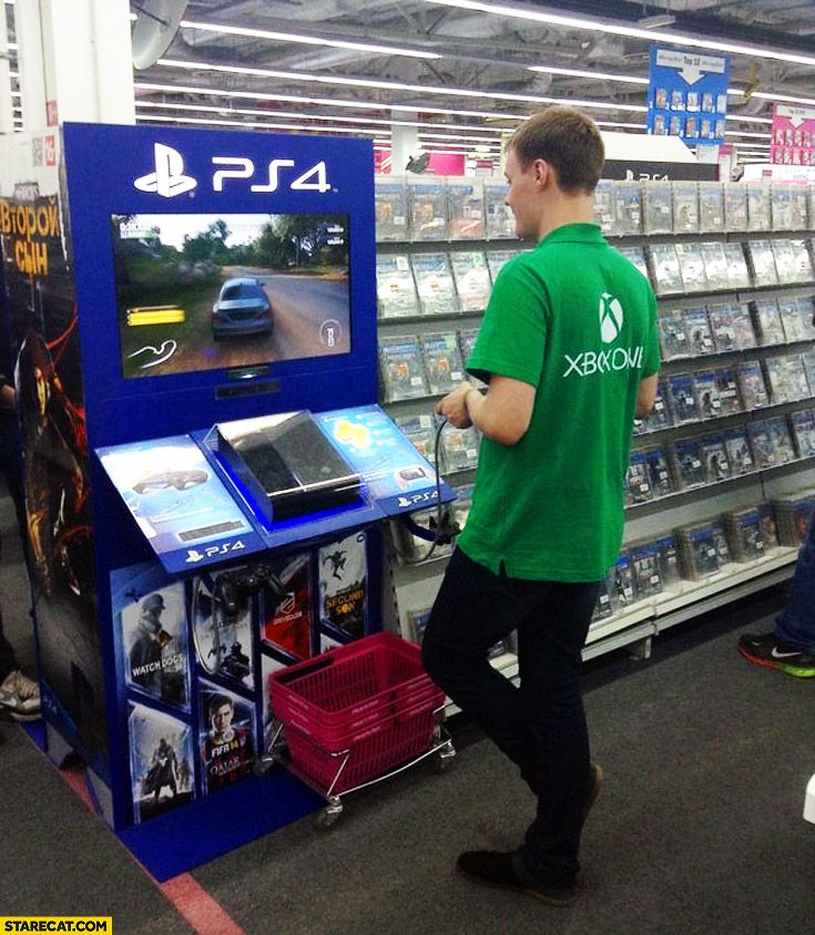 http://freepsncodes-5ways.blogspot.com   Xbox Salesman playing on PS4  #ps4 #psn #ps3 #ps4games #gamer #games