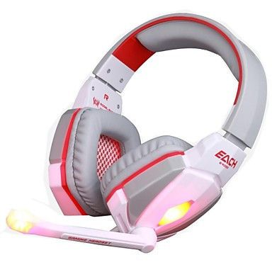 GE4000 PC Gaming Headset 3.5mm Over Ear White and Pink Edition. Only at www.pandadeals.co.uk