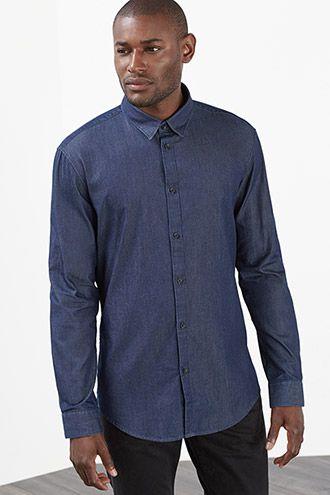 Esprit / Licht denim overhemd, 100% katoen