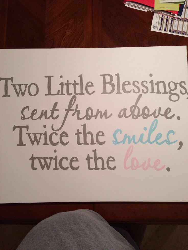 Hand painted canvas for boy/girl twin nursery