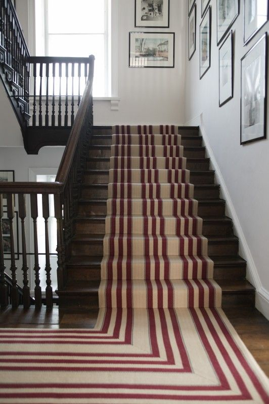 discover staircase design ideas on house design food and travel by house u0026 garden an elegant striped runner adds dynamism to this staircase