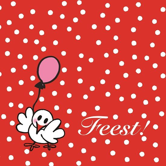 Wenskaart | Feest | Jarig www.hipenstipkaarten.nl