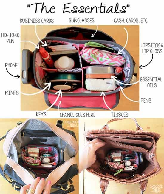 Do You Use A Purse Organizer Or Just Dump Everything From One Bag Into Another Diy Health And Beauty Frugal Tips Pinte