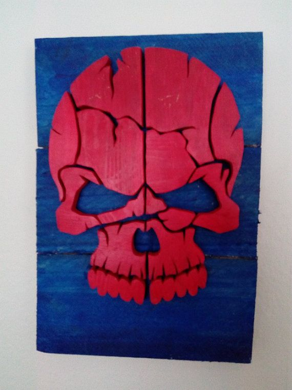Red Skull - Wood Picture