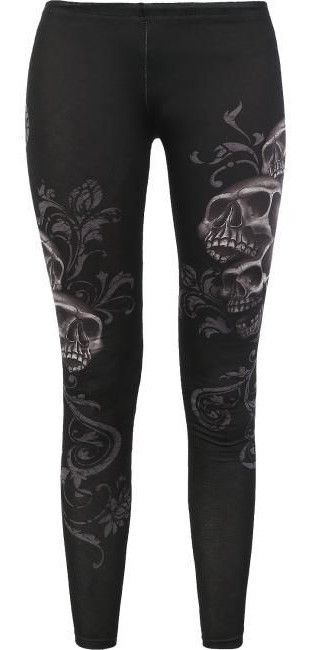 Skull Leggings by Rock Rebel ~ EMP