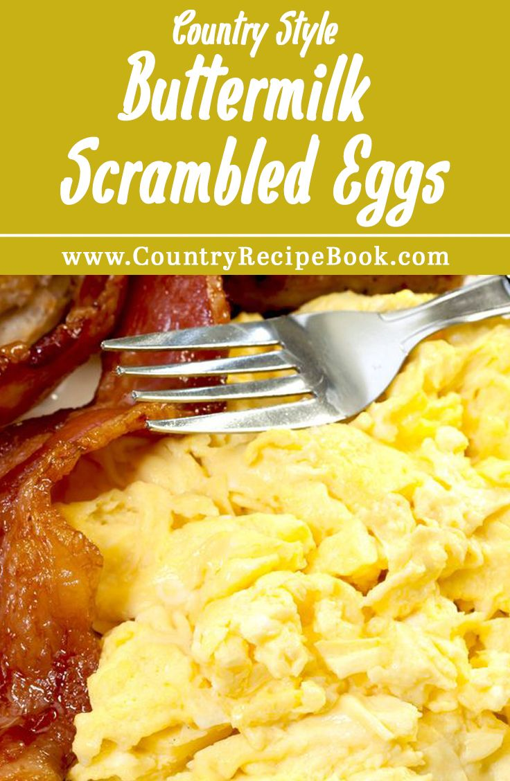 Make the most delicious scrambled eggs using buttermilk. This recipe is a down home country classic. Perfect for the weekend!