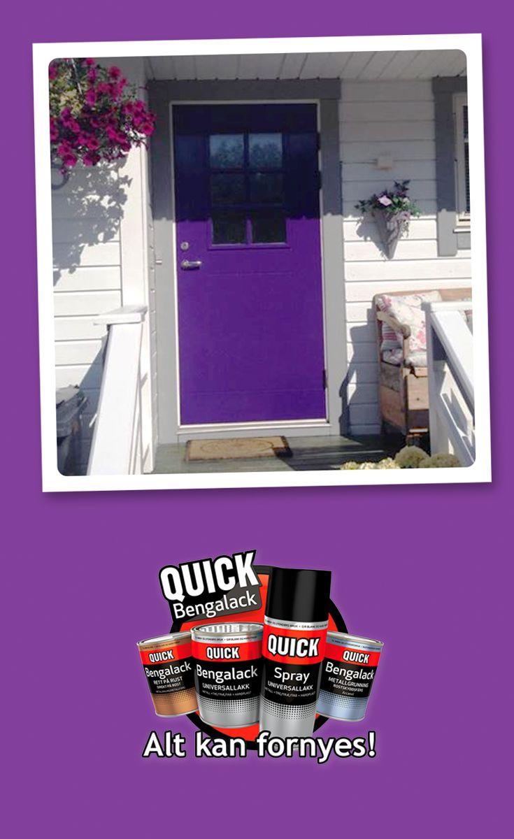 Få en fargerik inngang til hjemmet ditt med #bengalack! :) #quickbengalack #diy #interior #inspiration