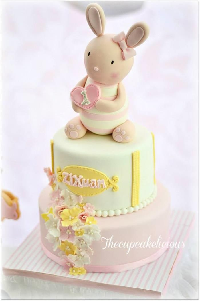 Shabby Chic Bunny Themed 1st Birthday Party with SUCH CUTE IDEAS via Kara's Party Ideas   KarasPartyIdeas.com #BunnyParty #PartyIdeas #Suppl...