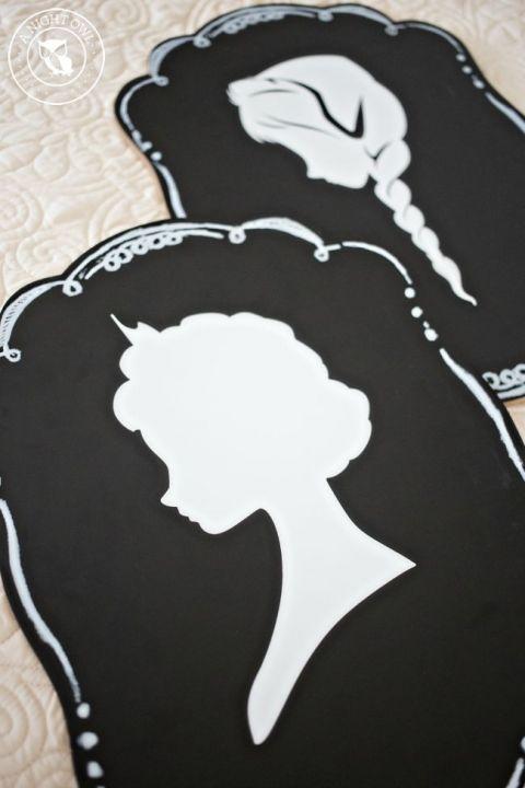 Create EASY Frozen Silhouettes with the Cricut Explore!