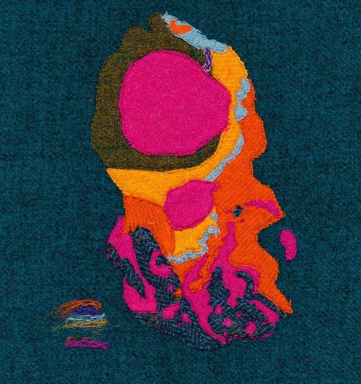 Bedrock Geology, Arran (Limited Edition Giclee Print) Original media: Harris Tweed & Free Motion Embroidery