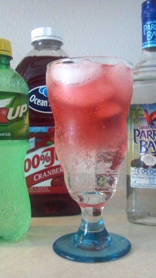 Sparkling Parrot - Coconut Parrot Bay, 7-Up, Cranberry Juice