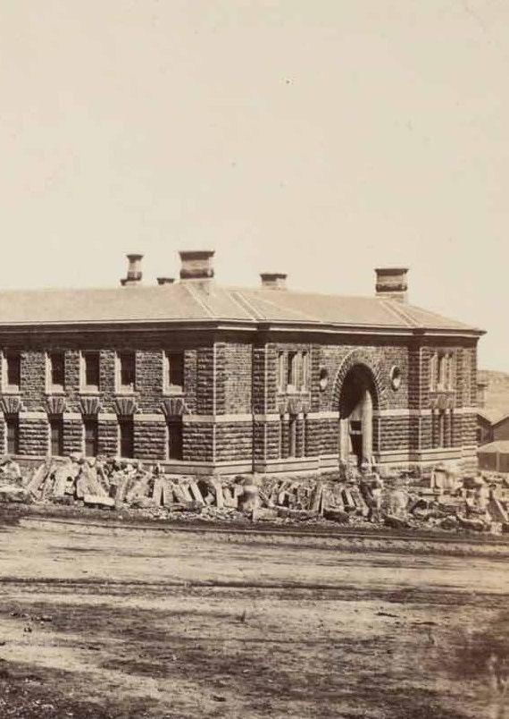 Melbourne Gaol in 1861