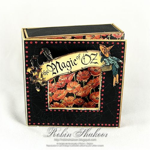 @Robin Shakoor made this stunning Magic of Oz altered art box. Great Stuff! #graphic45 #alteredartbox #DIY