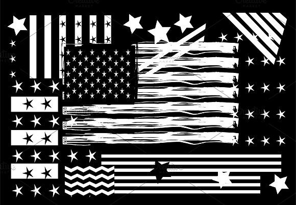 Usa American Flag Black And White W American Flag Black And White Star Background